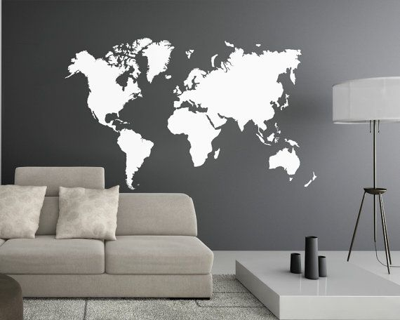 World map Wall Decal World map decal Wall decal by RemakeProject