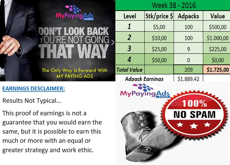 Hey fellow entrepreneur´s…  It's a real blessing that I am with #MPA ( www.mypayingads.com ) and long time now.  Who is out there sitting on the fence and still is watching??  You are not late, but you might take action soon…!  Use MPA to promote your others businesses and earn additional income from adpack earnings like this.  Thank you ( Owner ) Uday Nara and the MPA admin team, for making this opportunity to earn residual income.  Feel free to join my team: https://www.mypayingads.co
