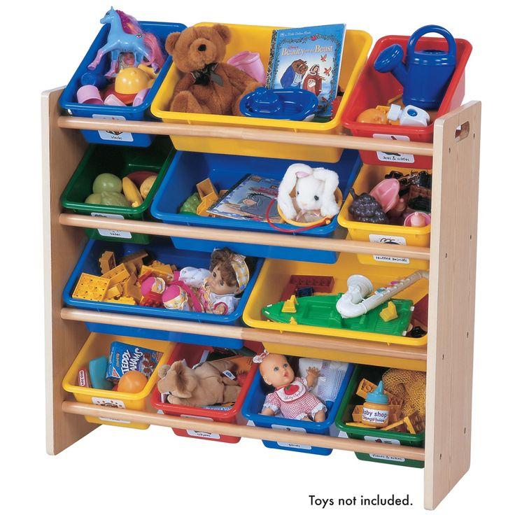 Tot Tutors Toy Organiser Natural Wood | Toys R Us Australia