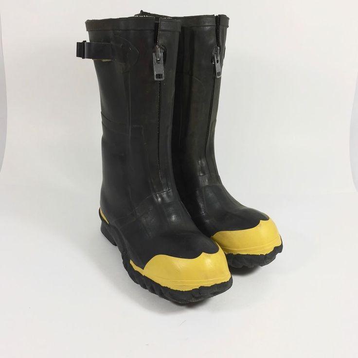 Vtg Servus Rubber Insulated Boots Steel Toe Sz 6 Muck Linemen Rescue Zipper    | eBay