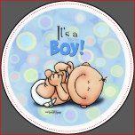 """Separe las noticias con este diseño lindo, cuando el bebé nace y anuncia que """"es un muchacho!"""" ¡con esta diversión diseñe en azules suaves, verdes y amarillo para el bebé!"""