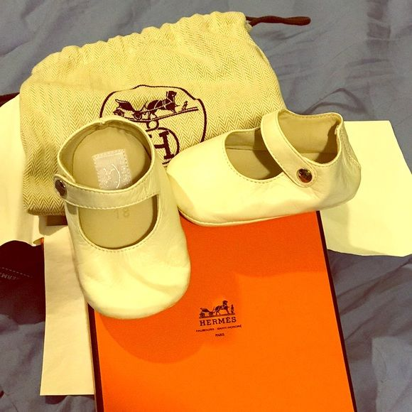 Shop Women's Hermes White size 3 months old Shoes at a discounted price at Poshmark. Description: Hermes baby Mary Jane sold with box and keepsake bag.. Sold by ctmmendez. Fast delivery, full service customer support.