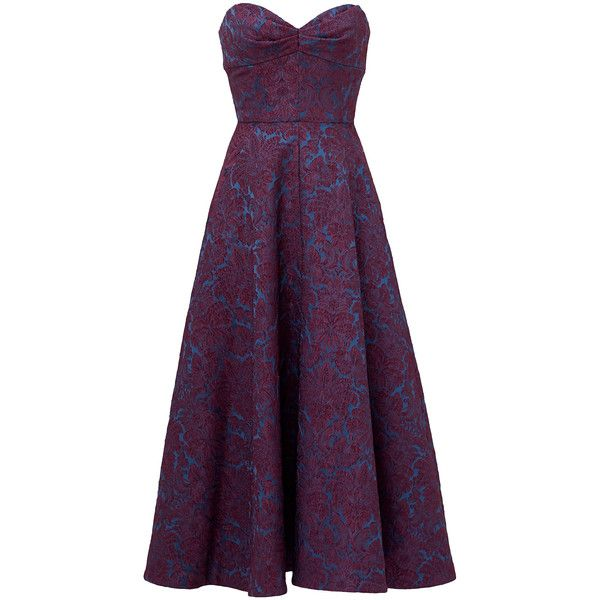 Rental Jill Jill Stuart Victoria Tea Dress ($60) ❤ liked on Polyvore featuring dresses, gowns, vestidos, long dresses, sweetheart long dress, purple sleeveless dress, purple gown, sleeveless gown and sweetheart dress