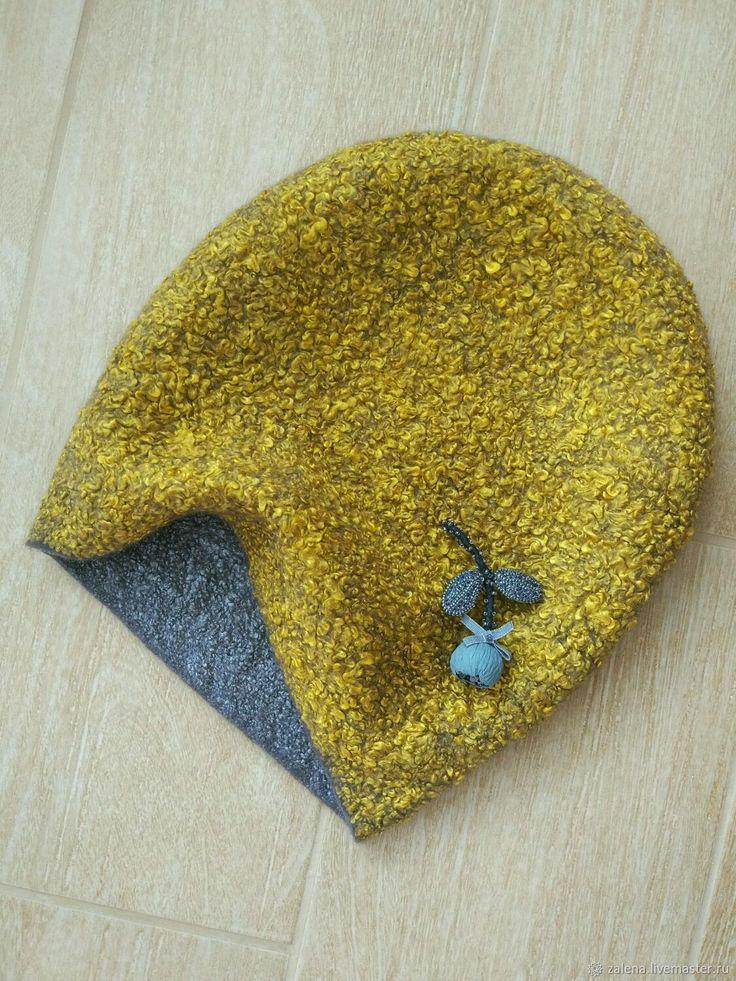 Валяная шапочка Золотые сумерки – купить в интернет-магазине на Ярмарке Мастеров с доставкой