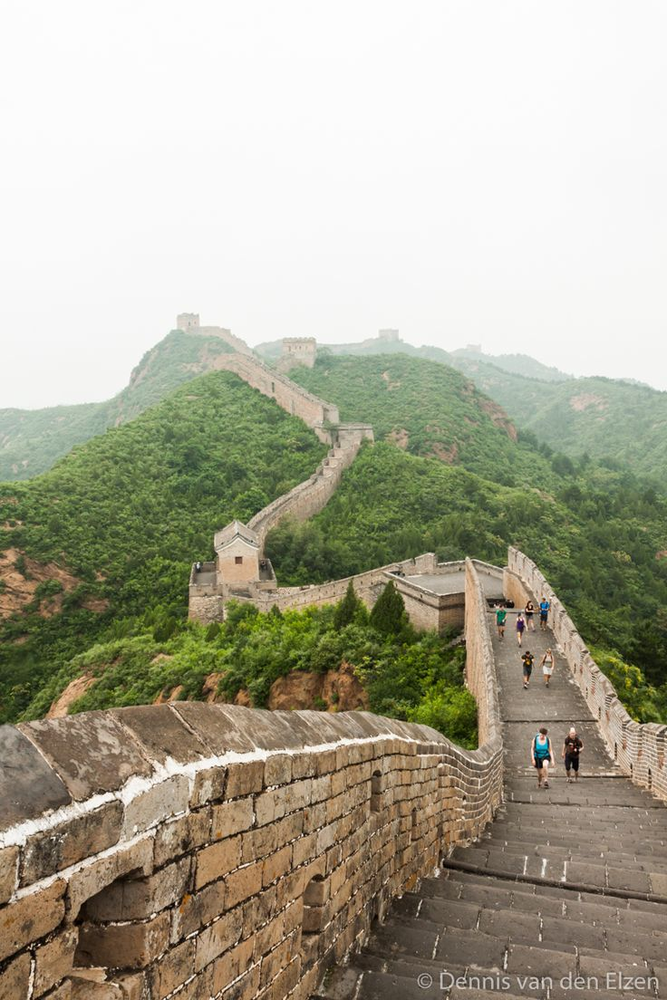 One of the 7 wonders of the world:The Great Wall of China.