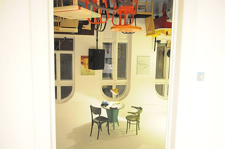 Interior design with an instalation by Andrei Argaetic