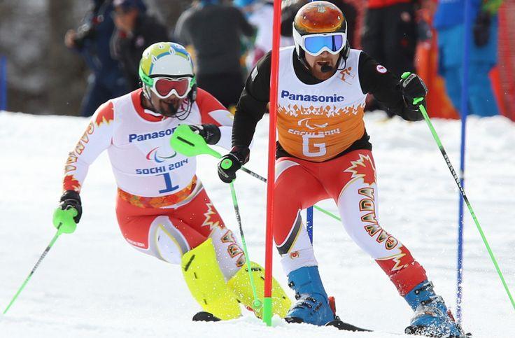 #Sochi - Chris Williamson and guide Nick Brush, Bronze Medal, Men's Slalom visually impaired