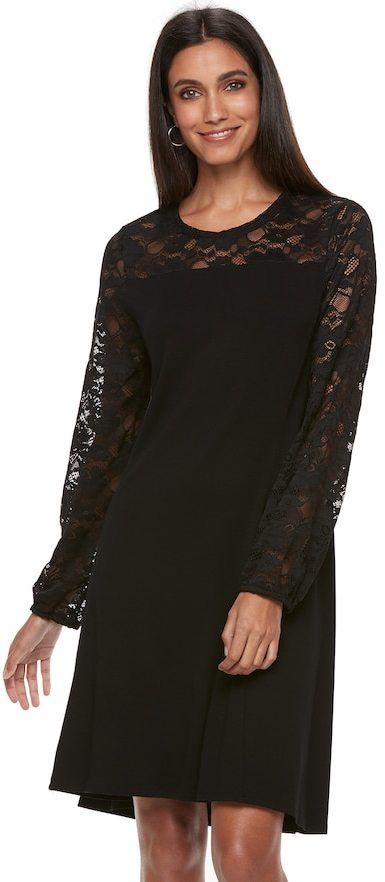abc26eb3e21f5 Apt. 9 Women s Apt. 9® Lace Yoke A-Line Dress