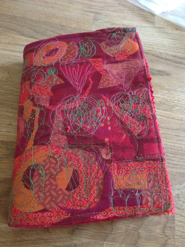 kindle cover klimt style designed by myself. free machine embroidery