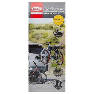 Bell Hitchbiker 450 4-Bike Hitch Rack with Stability, Silver