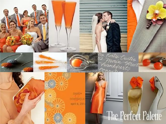 The gallery for Burnt Orange And Grey Wedding