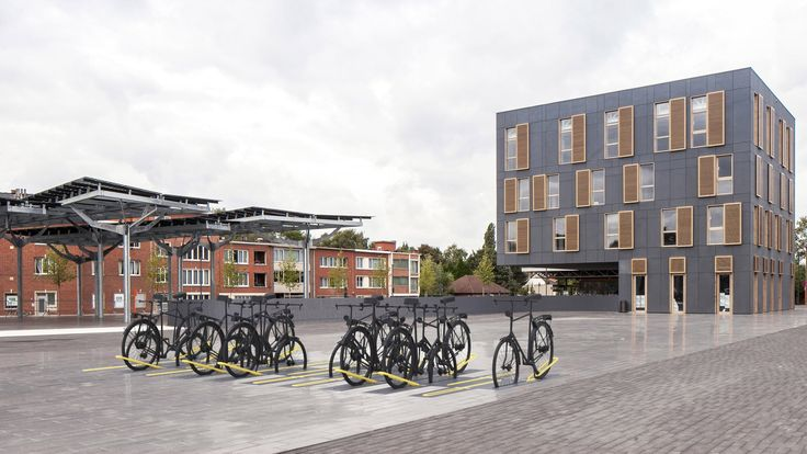 Design Academy Eindhoven graduate Milou Bergs has designed a bicycle rack that disappears entirely when it is not in use.