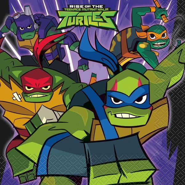 2020 Halloween Costumes Nickelodeon Teenage Mutant Ninja Turtles Rise of the TMNT Luncheon Napkins, 16ct in 2020 | Ninja turtle