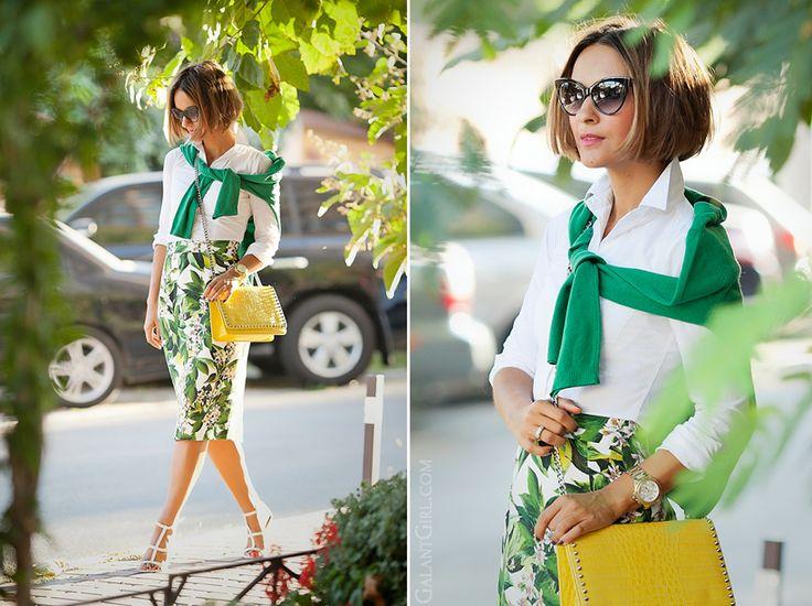 Dolce & Gabbana floral skirt on GalantGirl.com