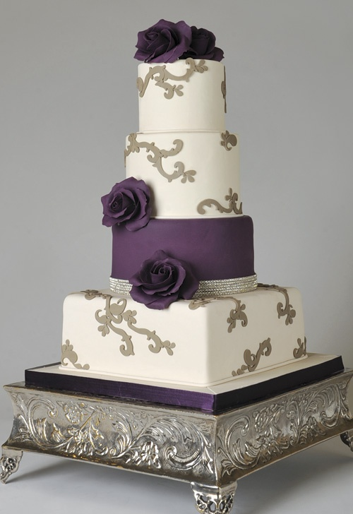 violet and silver wedding cake 406 best images about wedding cakes purple indian 21619