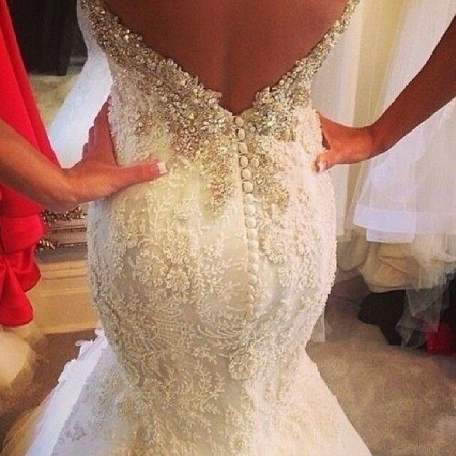Wedding Dresses Without Bling : Dresses wedding dressses mermaid style lace