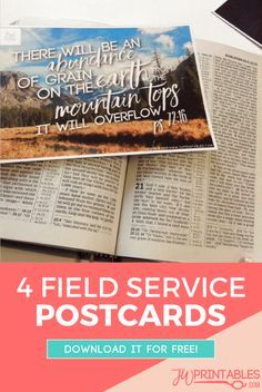 The coolest thing about these postcards is that you'll be sharing a bible scripture and the JW.org website with every person who handles this as it makes its way to be delivered. :)  #jw #fieldservice