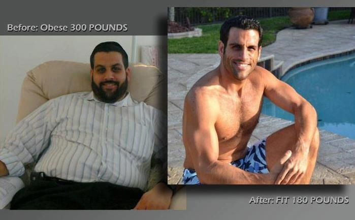 Before and after weightloss