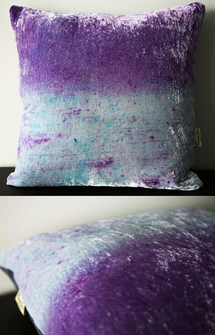 Spring inspired velvet ombre cushion available from: www.etsy.com/listing/183892221