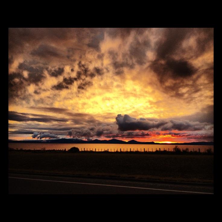 Photo taken by myself of Lake Taupo modified through Instagram