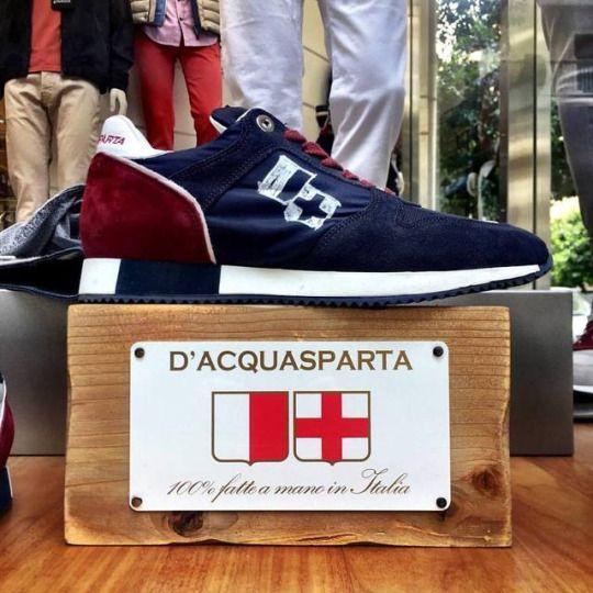 Blue/Bordo sneakers by D'Acquasparta.    #dacquasparta #shoes #fashion