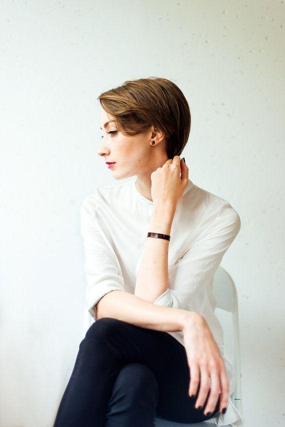 Leather bracelet maroon, Wrap bracelet, Women leather bracelet, Leather bangle, Maroon leather bracelet wrap bracelet, minimalist bracelet