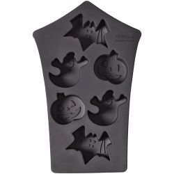 Moule silicone petits gâteaux Halloween, maison hantée Wilton