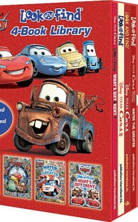 Cars Look and Find 4-Book Library