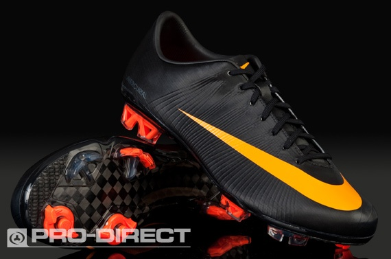 Nike Football Boots - Mercurial Vapor Superfly II FG - Firm Ground - Soccer Cleats - Black/Circuit Orange/Black