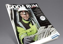 Gode Rom, magazine from Moelven. Pinned from www.redink.no.