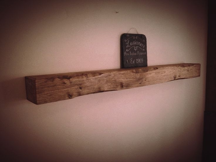 Rustic Oak Above Wood Burner Mantle Floating Chunky Solid