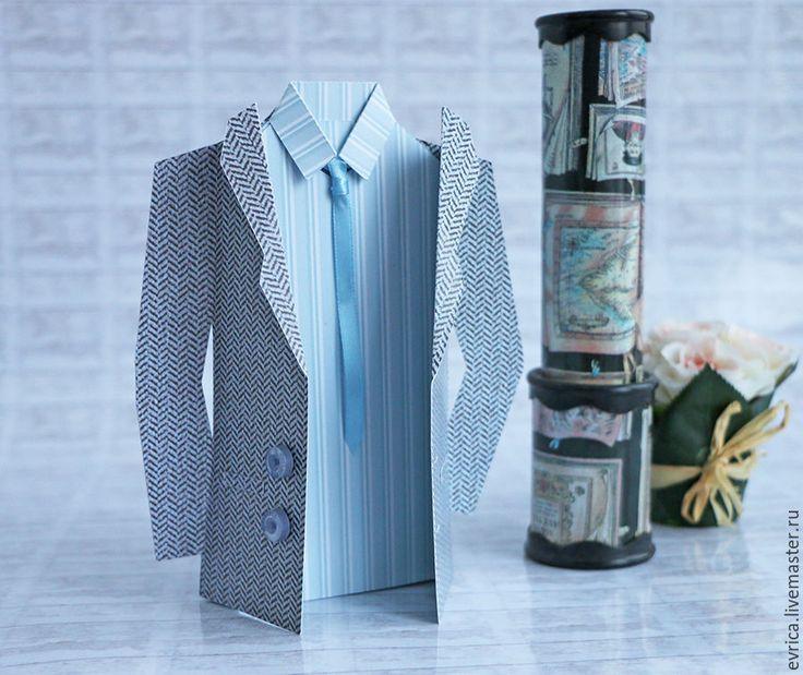 Мужская открытка с пиджаком