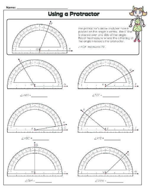 Using A Protractor Math 1 Lessons Clroom Elementary