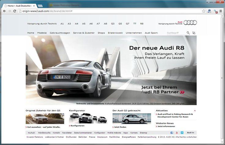 Facelift der neuen Audi-Website live.  http://www.blogomotive.com/2013/02/facelift-der-neuen-audi-website-live/