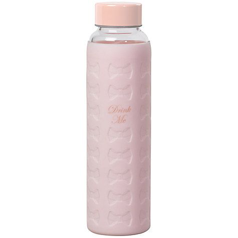 Buy Ted Baker, Glass Water Bottle, Pink Online at johnlewis.com