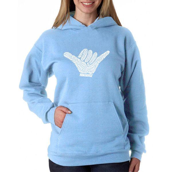 Women's Los Angeles Pop Art Women's Hooded Sweatshirt -TOP WORLDWIDE... (€30) ❤ liked on Polyvore featuring tops, hoodies, sweatshirts, blue, hoodies sweatshirts, polka dot hoodie, blue sweatshirt, blue hoodie and sweatshirt hoodies