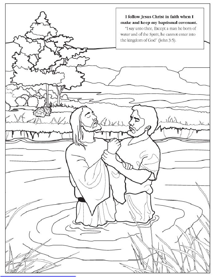 easter coloring book with scenes from jesus earthly life - Jesus Baptism Coloring Page