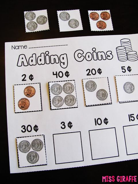When teaching adding coins, practice adding LIKE coins first to transition before mixing types (and other tips!)