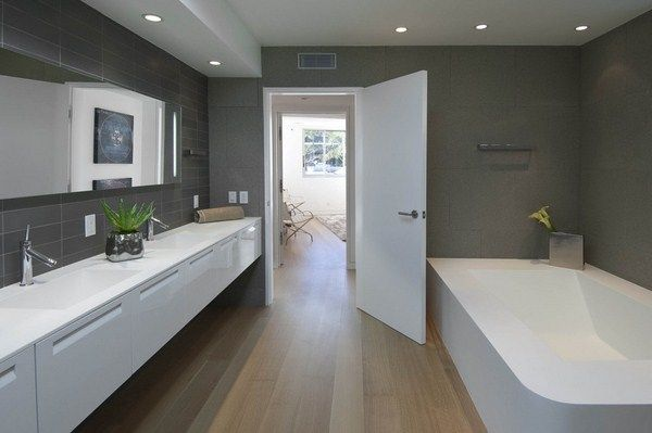 Modernes G?stebad Mit Dusche : Hollywood Hills California Bathrooms