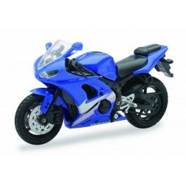 +1:18+Scale+Die-Cast+Motorcycle+-+Blue+Yamaha+YZF-R6