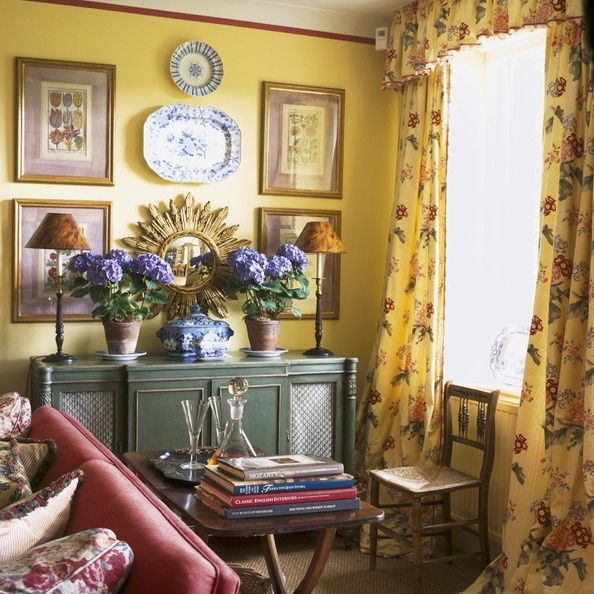 378 best yellow interiors images on pinterest beautiful for Country wall art for dining room