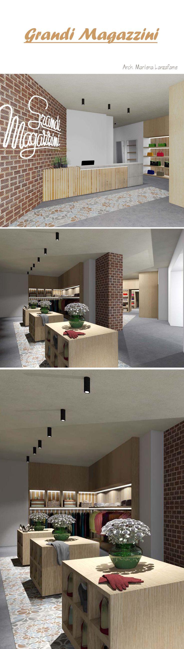 #archMLanzafame #myproject #architecture #design #interiordesign #shop #store #wood #brick #concrete #light #neon #atmosphere