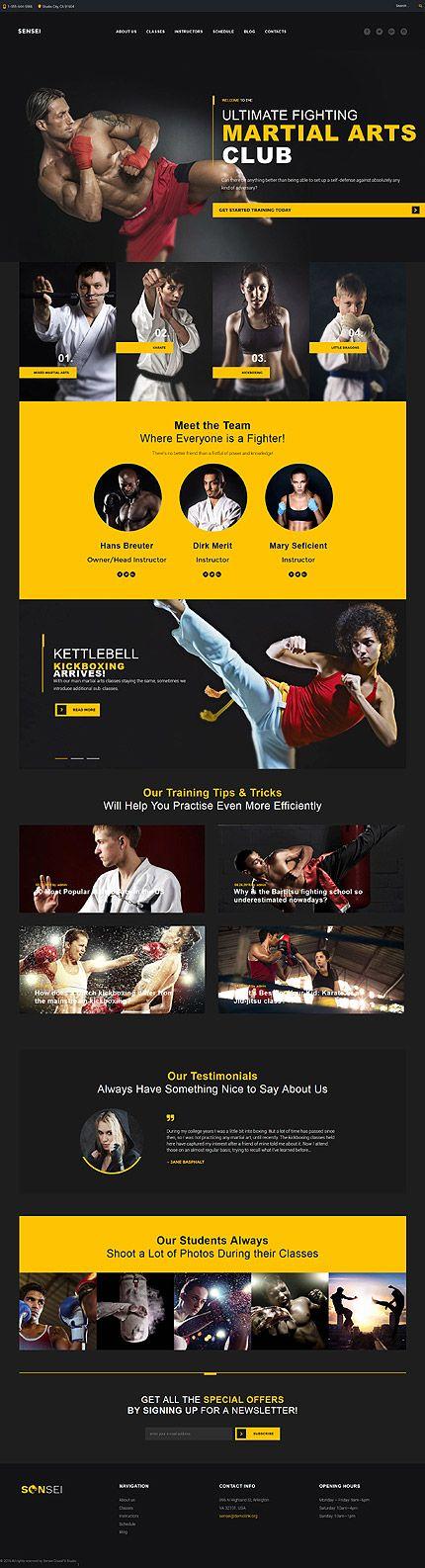 Martial Arts Club #Wordpress #template. #themes #business #responsive…