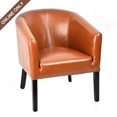 Best 199 Online Only Camel Leather Tub Chair At Kirkland S 400 x 300