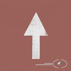 Textures Texture seamless | Road markings arrow texture seamless 18771 | Textures - ARCHITECTURE - ROADS - Roads Markings | Sketchuptexture