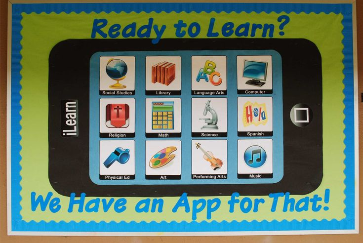 technology bulletin board | Ready To Learn? We Have An App For That! | Technology Themed Back-To ...