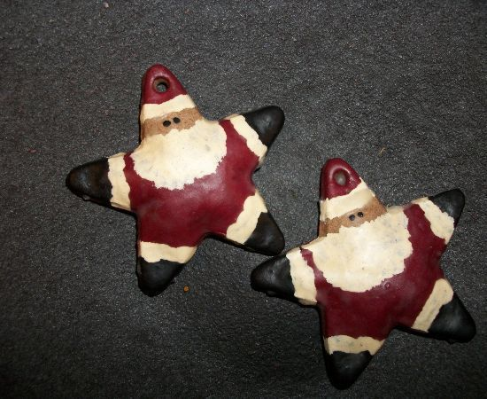 I made these santa stars out of my salt dough reci…