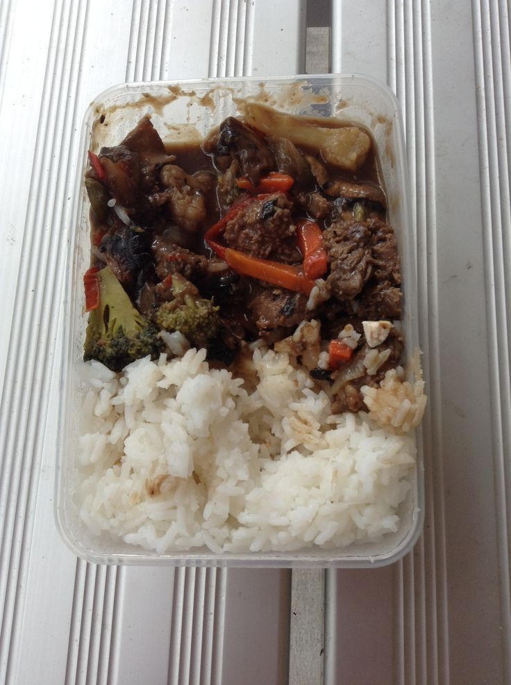 Rice and beef stir fry by Jess