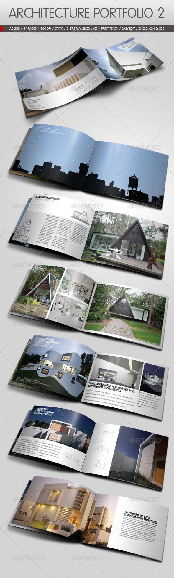 Architecture Portfolio II Modern minimal brochure template for real estate, architecture, construction companies or any business industry. Easy to edit.