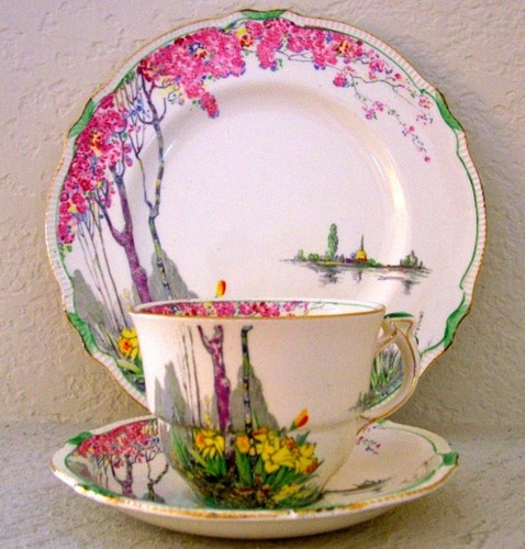 Vintage Royal Winton Grimwades Daffodil Tea Cup Saucer Plate Trio   eBay